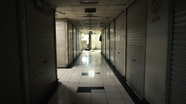 empty downtown jakarta shopping vendorduring the covid-19 pandemic - south east asia stock videos & royalty-free footage