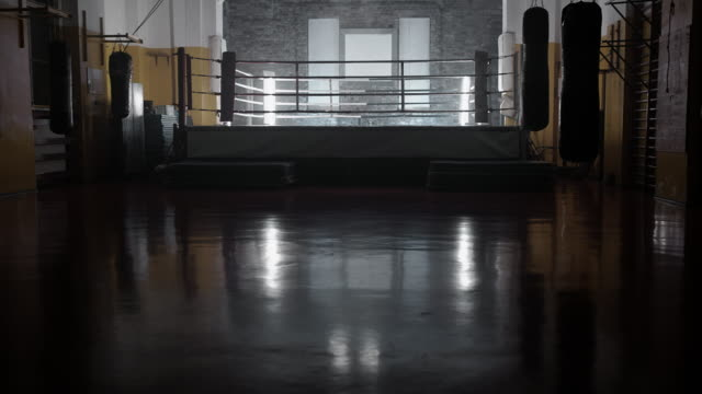 Empty fight ring