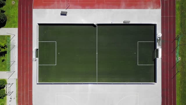 empty football field on sports stadium - football pitch stock videos & royalty-free footage