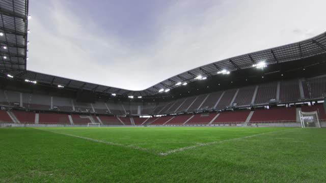 ds empty football field - stadium stock videos & royalty-free footage