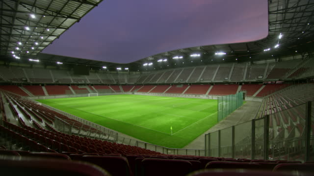ds empty football stadium at night - stadium stock videos & royalty-free footage