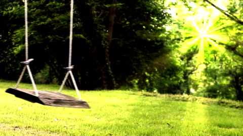 empty garden swing and woman. - obscured face stock videos & royalty-free footage