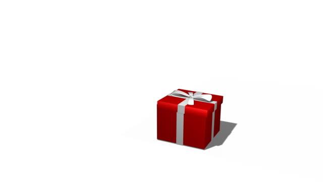 vidéos et rushes de boîte cadeau vide - cadeau