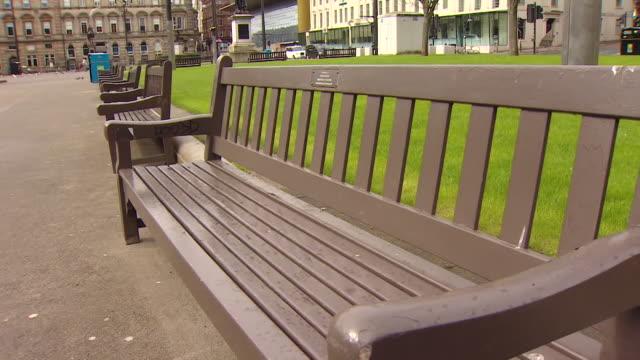 empty glasgow streets during lockdown due to coronavirus crisis in scotland - scotland stock videos & royalty-free footage