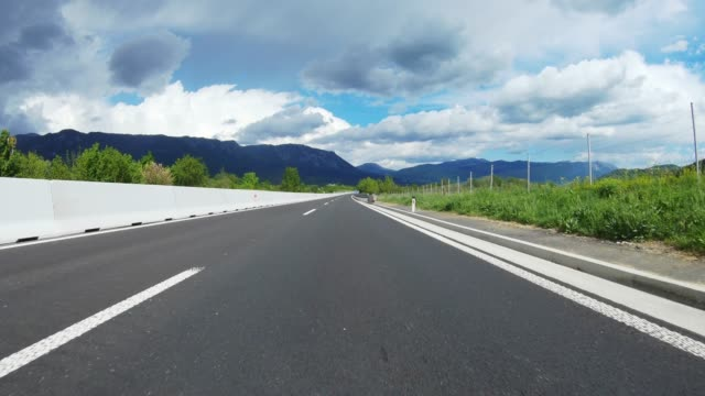 empty highway - low angle view stock videos & royalty-free footage