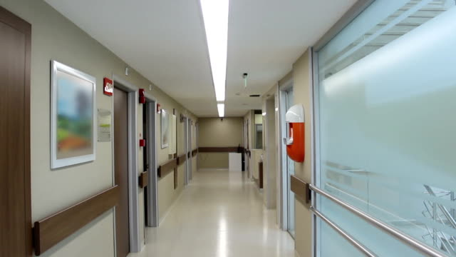 empty hospital corridor - building entrance stock videos & royalty-free footage
