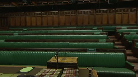 empty house of commons chamber, despatch box and central clerk's table - house of commons stock videos & royalty-free footage