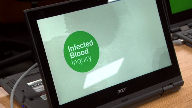 empty infected blood inquiry hearing room - infectious disease stock videos & royalty-free footage