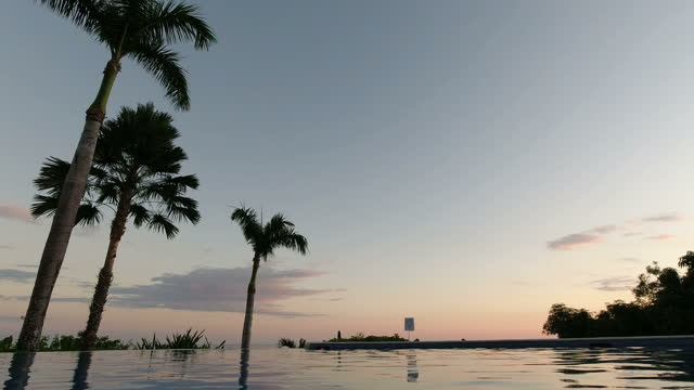 empty infinity pool during the sunset - caribbean sea stock videos & royalty-free footage