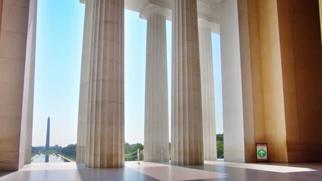 empty lincoln memorial. washington monument - washington monument washington dc stock videos & royalty-free footage