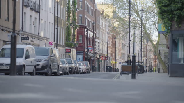 empty london in lockdown during coronavirus pandemic - establishing shot stock videos & royalty-free footage