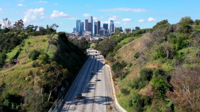 empty los angeles freeways during coronavirus pandemic - los angeles county stock videos & royalty-free footage