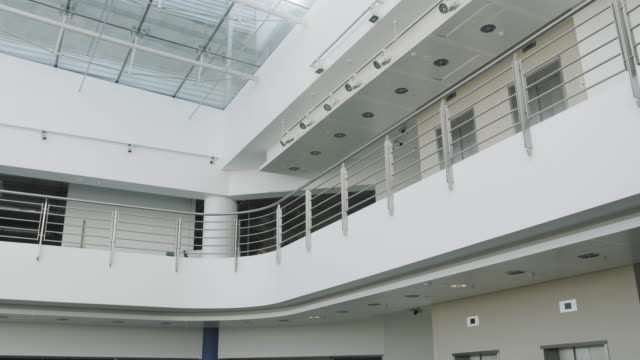 empty modern corporate business office lobby - headquarters stock videos & royalty-free footage
