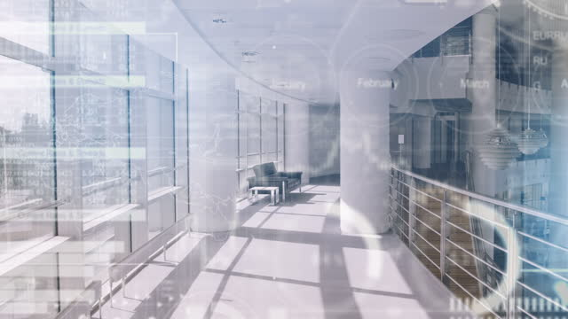 empty modern corporate business office lobby with sofa - headquarters stock videos & royalty-free footage