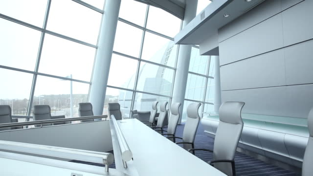 ws ds zi empty modern corporate office / virginia beach, virginia, united states - conference table stock videos & royalty-free footage