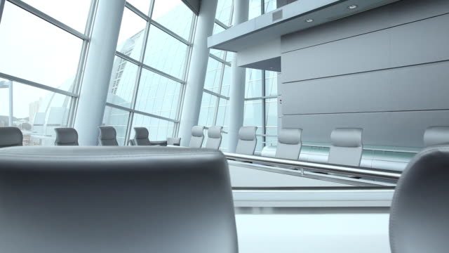 ws ds empty modern corporate office / virginia beach, virginia, united states - conference table stock videos & royalty-free footage