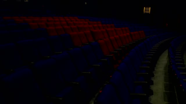 empty movie theater - stage performance space stock videos & royalty-free footage