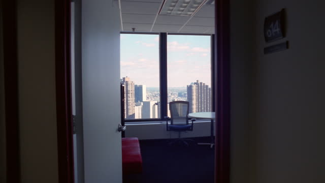 ms, empty office, new york city, new york, usa  - office chair stock videos & royalty-free footage