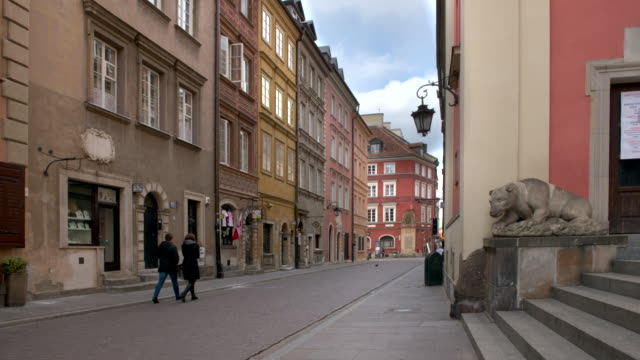 empty old town streets in warsaw - poland stock videos & royalty-free footage