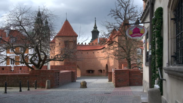 empty old town streets in warsaw - eastern european culture stock videos & royalty-free footage