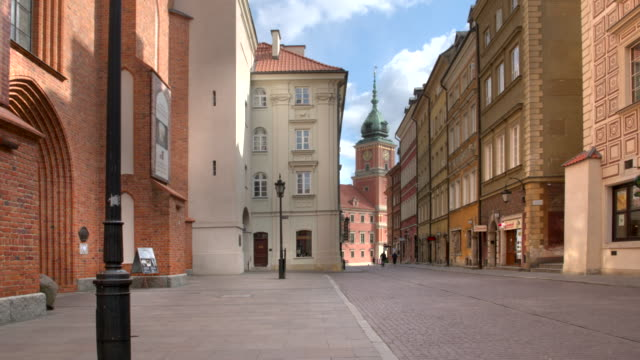 empty old town streets in warsaw - warsaw stock videos & royalty-free footage