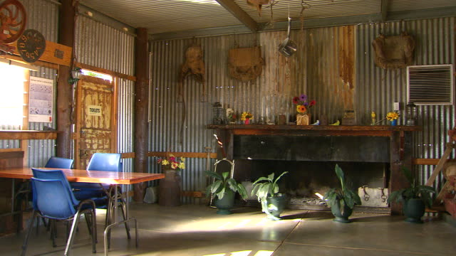WS Empty outback bar with lounge / Packsaddle, New South Wales, Australia