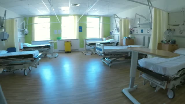 empty paediatric ward at addenbrooke's hospital in cambridge as people aren't seeking medical help due to coronavirus - the way forward stock videos & royalty-free footage