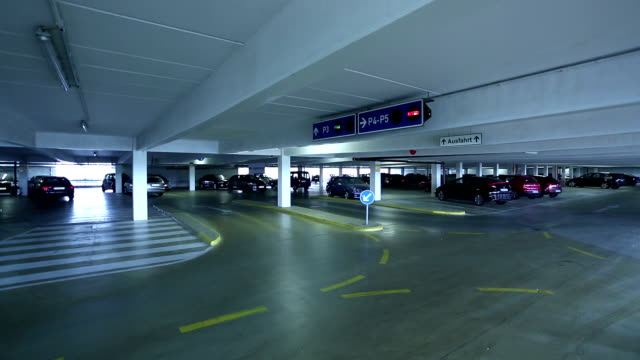 empty parking garage - parking stock videos & royalty-free footage