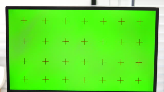 empty pc green screen - stage set stock videos and b-roll footage
