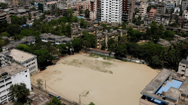 empty playground during government-imposed lockdown as a preventive measure against the covid-19 coronavirus in dhaka, bangladesh in april 02, 2020. - dhaka stock videos & royalty-free footage