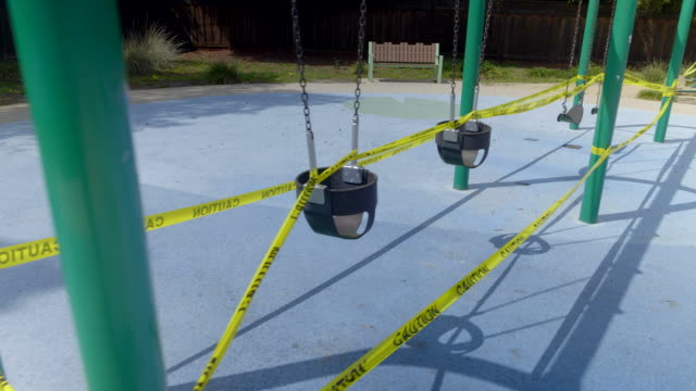 empty playground in mountain view, california at coronavirus pandemic time. - public park stock videos & royalty-free footage