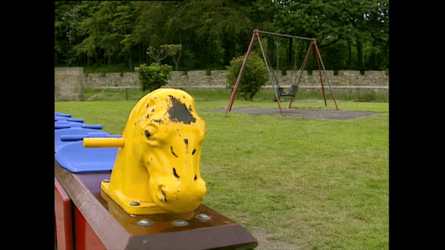 empty playground with swings moving in wind; 1993 - 1993 stock videos & royalty-free footage