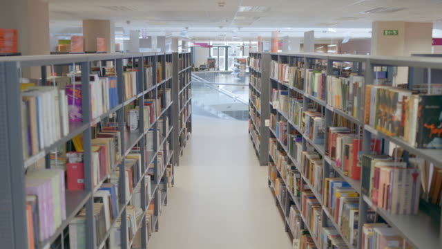 ds empty public library at daytime - library stock videos & royalty-free footage