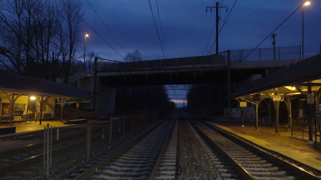 empty railway station at night - suicide stock videos & royalty-free footage