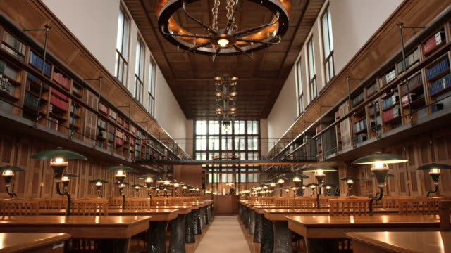 ds empty reading room in a library - indoors stock videos & royalty-free footage