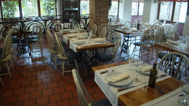 empty restaurant walkthrough - restaurant stock videos & royalty-free footage