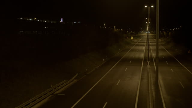 empty road at night - empty road stock videos and b-roll footage