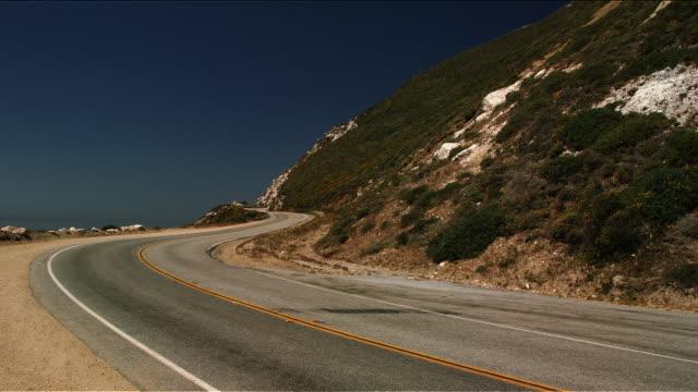 Empty road on Pacific Coast Highway