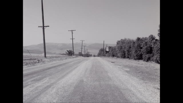 ws empty road with telegraph poles / united states - telegraph pole stock videos and b-roll footage