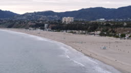 Empty Santa Monica Beach During Covid-19 Pandemic
