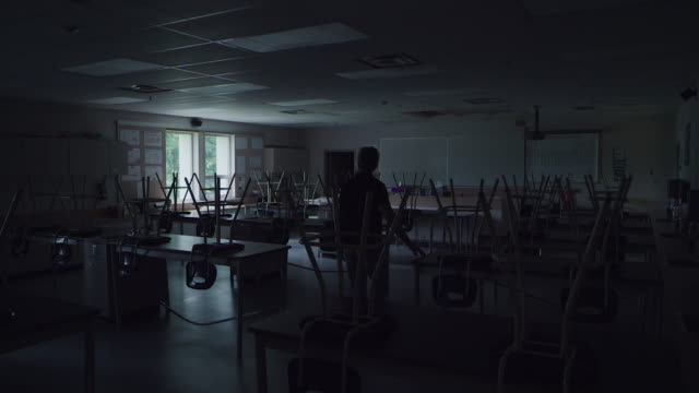 empty school classroom - canadian politics stock videos & royalty-free footage
