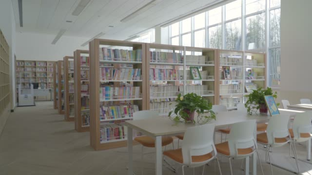 empty school library - library stock videos & royalty-free footage