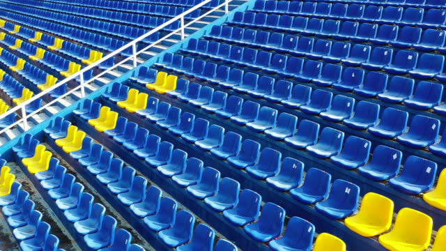 empty seats in a stadium - chairs in a row stock videos & royalty-free footage