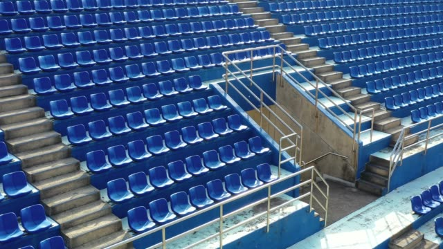 empty seats in a stadium - chair stock videos & royalty-free footage