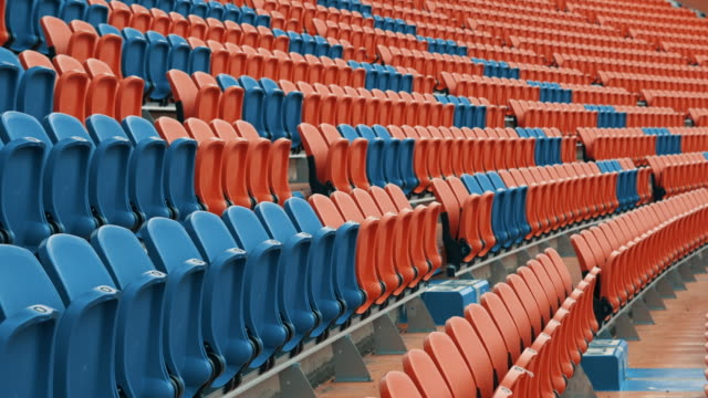 empty seats in a stadium - barren stock videos & royalty-free footage
