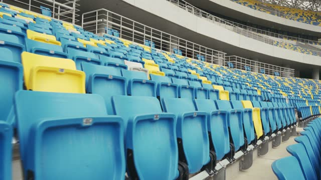 empty seats in a stadium - pitch stock videos & royalty-free footage
