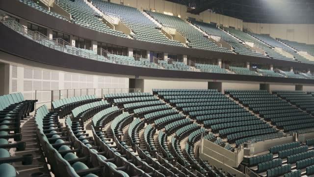 empty seats in a stadium - sport venue stock videos & royalty-free footage