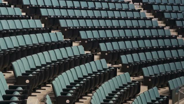 vídeos y material grabado en eventos de stock de empty seats in a stadium - arts culture and entertainment