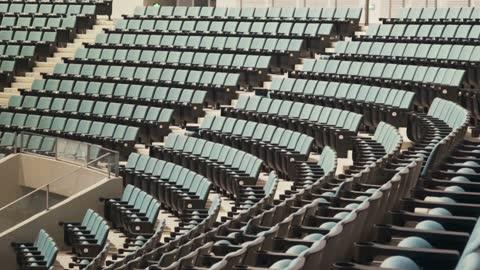 vídeos y material grabado en eventos de stock de empty seats in a stadium - campo lugar deportivo