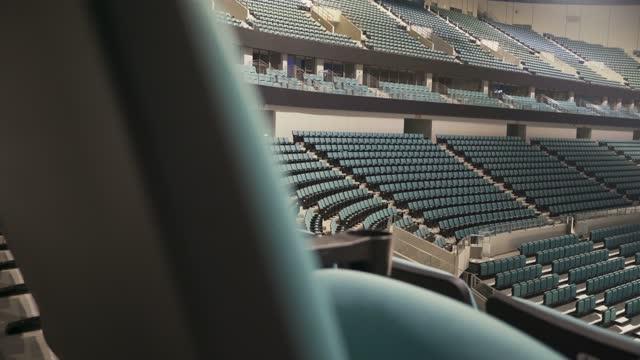 empty seats in a stadium - amphitheatre stock videos & royalty-free footage